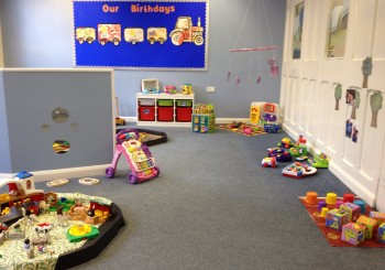 Lots of space for all those 1-2 year old movers and groovers….