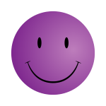 Purple smiley face